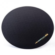 Black Leatherette 17″ x 14″ Oval Conference Pad