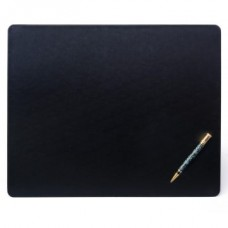 Black Leatherette 17″ x 14″ Conference Table Pad with Thin Metal Core