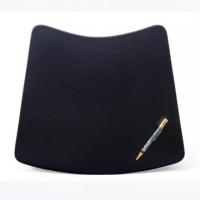 Black Leatherette 17″ x 14″ Conference Pad for Round Table