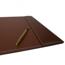 Rustic Brown Leather 25.5″ x 17.25″ Side-Rail Desk Pad