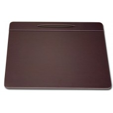 Chocolate Brown Leatherette 17″ x 14″ Top-Rail Conference Pad with Pen Well