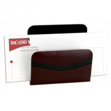 Burgundy Contemporary Leather 10-Piece Desk Set