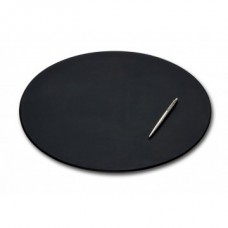 Black Leather 17″ x 14″ Oval Conference Pad