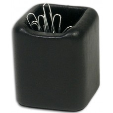 Classic Black Leather Paper Clip Holder