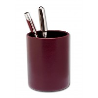 Two-Tone Leather Round Pencil Cup