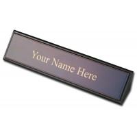 Walnut & Leather Name Plate
