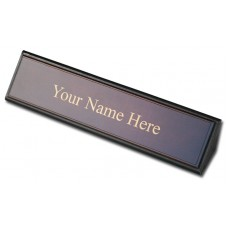 Walnut & Leather Name Plate