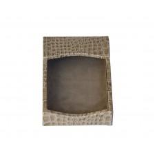 Protacini Breeze Beige Italian Patent Leather 4 x 6 Memo Holder