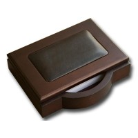 Walnut & Leather Memo Holder