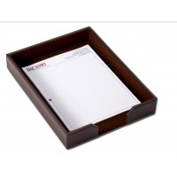 Rosewood & Leather Mouse Pad