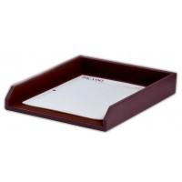 Two-Tone Leather Letter Tray