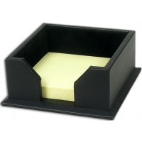 Classic Black Leather 3″ x 3″ Sticky Note Holder