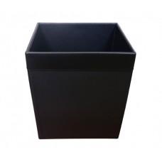 Classic Black Leather 32 Quart Waste Basket