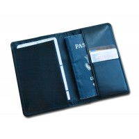 Classic Black Leather Passport Holder