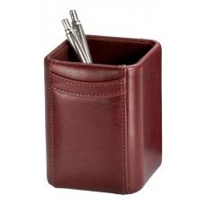 Mocha Leather Pencil Cup