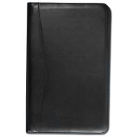 Black Deluxe Zip-Around Portfolio – Legal Size
