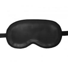Black Leather Sleep Mask