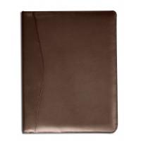 Chocolate Brown Leather Standard Padfolio