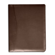Chocolate Brown Leather Standard Padfolio
