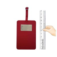 Dacasso Colors Travelers Envy Luggage Tag* – Rossa Red