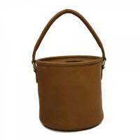 Round Leather Bucket