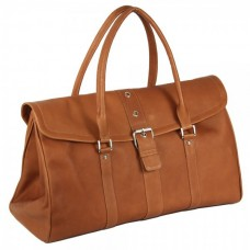 Buckle Flap-Over Satchel