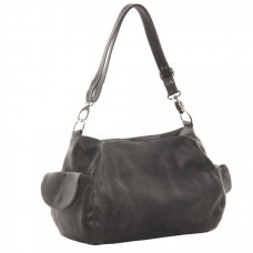 Top-Zip Shoulder Bag/Cross Body Hobo