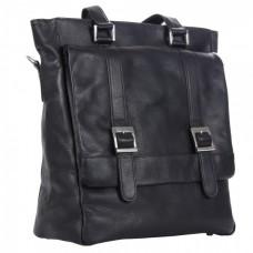 Buckle Flap-Over Shoulder Bag