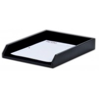 Classic Black Leather Legal Letter Tray