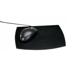 Classic Black Leather Mouse Pad
