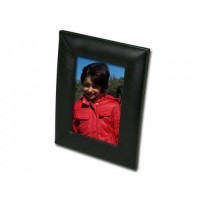 Classic Black Leather 4″ x 6″ Picture Frame