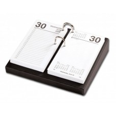 Classic Black 3.5″ x 6″ Calendar Holder with Silver Accents