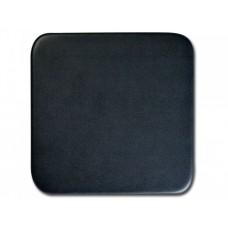 Classic Black Top-Grain Leather Square Coaster