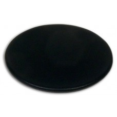 Classic Black Leatherette Round Coaster