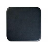 Classic Black Leatherette Square Coaster
