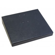 "Classic Black Leather 3.5"" x 6"" Calendar Holder Base"