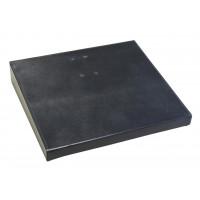 "Classic Black Leather 4.5"" x 8"" Calendar Holder Base"