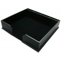 Classic Black Leather Conference Pad Holder