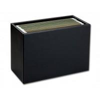 Classic Black Leather Hanging File Folder Box