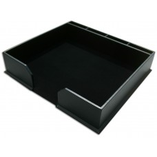 Black Bonded Leather Conference Pad Holder