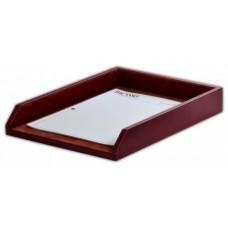 Mocha Leather Letter Tray