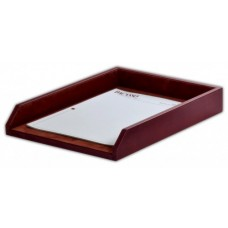 Mocha Leather Legal Letter Tray