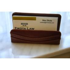 Mocha Leather Business Card Holder