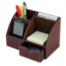 Mocha Leather Desktop Organizer