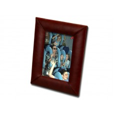 Mocha Leather 4″ x 6″ Picture Frame