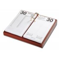 Rustic Brown Leather 4.5″ x 8″ Calendar Holder