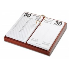 Rustic Brown Leather 4.5″ x 8″ Calendar Holder