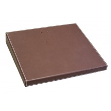 "Rustic Brown Leather 4.5"" x 8"" Calendar Base"