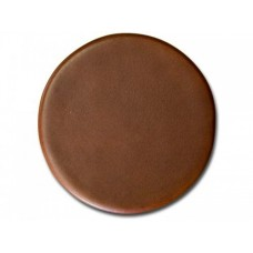 Rustic Brown Leather 4″ Round Coaster