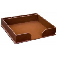 Rustic Brown Leather Conference Pad Holder